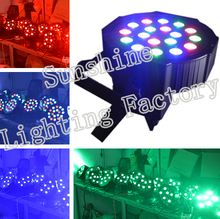 12pcs/lots Professional DJ Lighting RGB LED Par Can Wash 18*3W RGB Lighting,DJ Uplighting Slim PAR