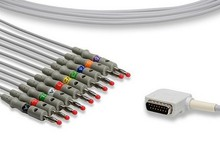 Electrocardiogram ECG/EKG Cable 12-channel/ 10 Leads Banana AHA Compatible Kenz K131, Cardico