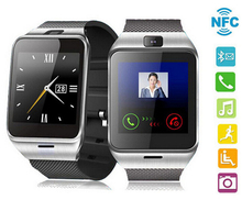 Original GV18 NFC Smart Bluetooth Watch For iPhone Android Phone IOS Wristwatch Smartwatch With Camera SIM Card Slot