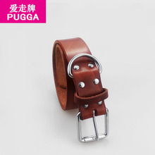 New Top Quality Genuine Leather Dog CollarFor Big Dogs Concise and Vogue Adjustable Pet Collar Dog Necklace