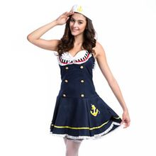 Womens Navy sailor Halloween costume victorian medieval dresses fancy dress disfraces adultos oktoberfest costume plus size(China)
