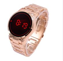 Unique Man's watch Steel  Red Digital LED luxury military Fashion Sport Dress Wrist Watch New Male clock male New