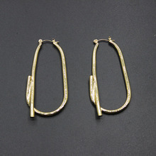 Korean custom section of the catches of fashion very simple fashion metal geometric earrings female 366(China)
