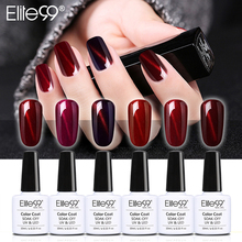 Elite99 Wine Red Cat's Eye Gel Nail Polish All 6 Colors UV Gel Polish + 1 Magnet For Lacquer Varnish Semi Permanent Gel Enamel(China)