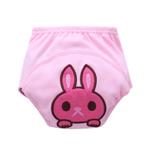 New Cartoon Animal Embroidery Style 3 Layers Of Waterproof Cloth Diapers To Study Pants Training Trousers Bread Pants Nappies(China)