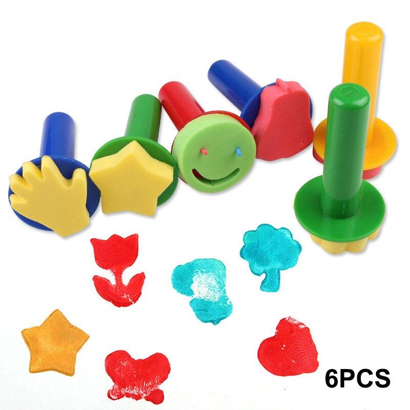 Creative Sponge Brushes Drawing Toys Children Kids Diy Stamp Foam Painting Graffiti Brush Painting Supplies Art Set Crafts (17)