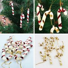 New 6pcs/10pcs Christmas Candy Cane Ornament For Christmas Tree Celebration Party Wedding Birthday party Xmas Decoration