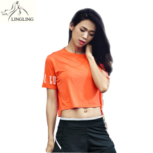 Loose Short Sleeve Yoga Top Women Round Neck Fitness Sports Apparel Ladies Sports t-shirt Sport Shirt Women Blouse Activewear