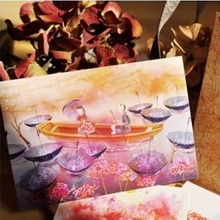 10pcs 5 style Equinox Flower style memory postcard invitation Greeting Cards gift cards Christmas postcard & invitation