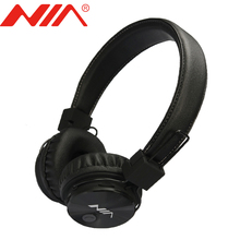Wireless Stereo Bluetooth Headphones Original NIA X3 Headsets Free Shipping Foldable Sport with Mic Support TF Card FM Radio
