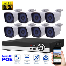 8CH 1080P POE NVR Kit Network Security System Video Record H.264 P2P Cloud Motion Detection HDMI Home Surveillance IP Camera Set(China)