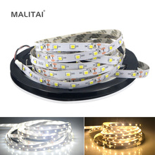 5M / Roll White / Warm White 3528 SMD LED Strip light Flexible String Ribbon 60 LEDs /M lamp Tape For Indoor Decoration lighting