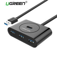 Ugreen USB 3.0 HUB Super Speed External 4 Port Usb Splitter with Micro Usb Interface for Macbook Air Laptop PC Computer Usb Hubs(China)