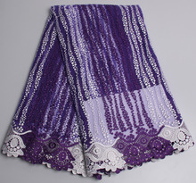 Fashin high quality African Tulle Lace Fabric for Nigerian Aso Ebi women APW02B-1(China)
