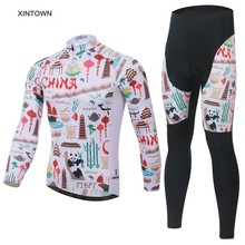 XINTOWN Autumn Winter One Piece Cycling Suits Bicycle Long Sleeve Road Bike Clothing MTB Road Bicycle Long Pants Outdoor Sports