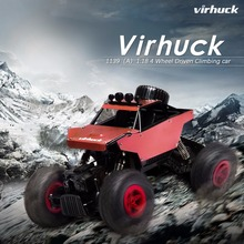 Virhuck 1139(A)1/18 2.4GHz 1:18 Scale RC Car 4WD Off-Road Race Truck Car Toy Black Christmas Gifts for Boys Three Color(China)