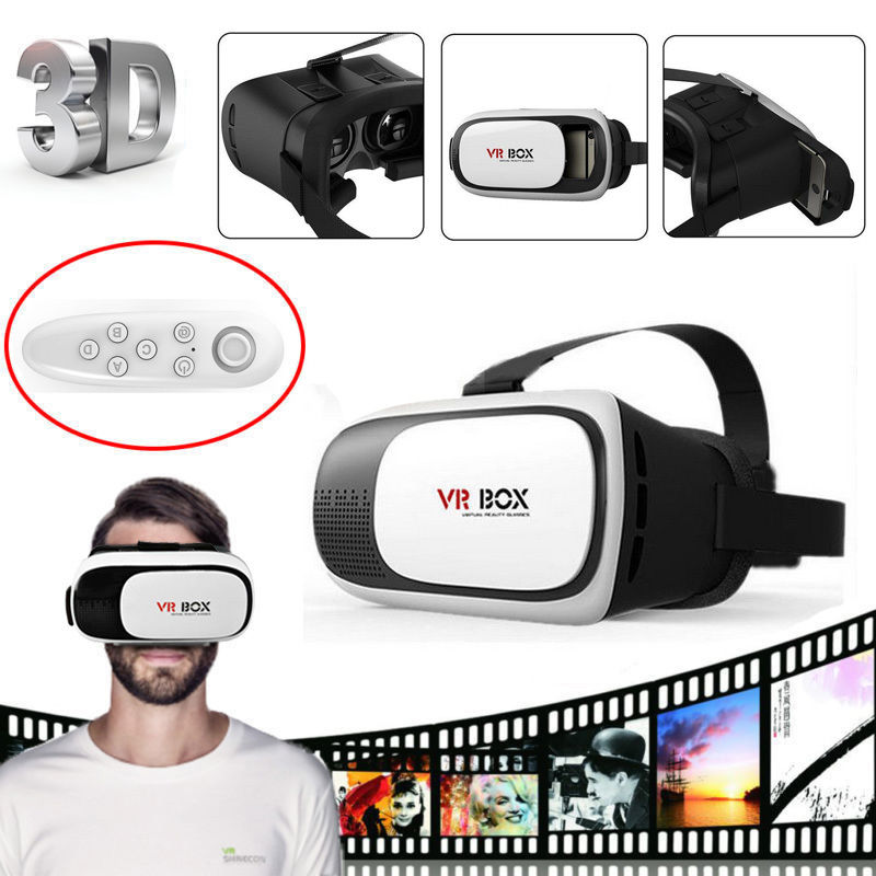 VR BOX 2.0 II Google 3D Glass Glasses/ VR Glasses Virtual Reality Case Cardboard Headset Helmet For iPhone 7 6 6s 5 Mobile Phone 2