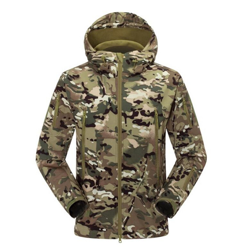 Brand Clothing Men Military Jacket US Army Tactical Sharkskin Softshell Autum Winter Outerwear Camouflage Jacket and Coat