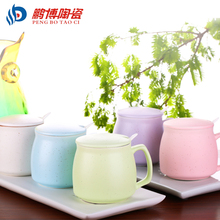 5 colors Drinkware 1pc Creative Brief Small Ceramic Milk Coffee Mug Lovers Cup Valentine's Day Gift Free Shipping