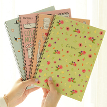 Big B5 size coil notebook Daily memo Vintage travel Cute animal diary Korean Stationery Office accessories School Supplies F364