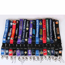 32 American Football Teams Lanyards Neck Strap For ID Pass Card Badge Gym Key / Mobile Phone USB Holder DIY Hang Rope Necklaces(China)
