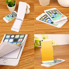 1Pcs Creative Notebook Sticky Note Paper Cell Phone Shaped Note Pad Office Supplies Stationery Gift New Arrival