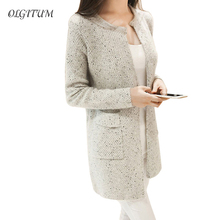 OLGOTUM 2017 New Spring&Autumn Women Casual Long Sleeve Knitted Cardigans Autumn Crochet Ladies Sweaters Fashion Women Cardigan