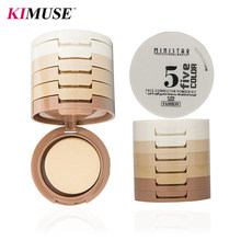 KIMUSE Professional 5 Colors Makeup Blush Long Lasting Moisturizer Pores Face Blusher Powder Palette Cosmetics Free Shipping(China)