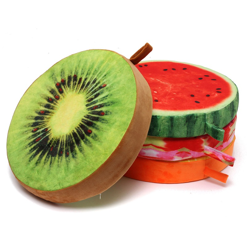 High Quality Brand New Soft Round Fruit Pillow Plush Dining Cushion Chair  Seat Buttocks Pad Fit