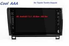 2din radio android 7.1.1 HD 1024X600 Quad core For Toyota Tundra Sequoia 2007-2015 WIFI Bluetooth Phonelink BT 1080P Ipod Map 4G