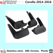 car body cover plastic fender soft mudguard protection flaps splash mud guard frame 4pcs for TOYOTA Corolla Altis 2014 2015 2016(China)