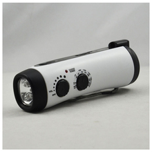 Emergency Power Hand Crank Dynamo 5-LED Flashlight with AM/FM Radio for Camping(China)