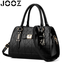 JOOZ Brand New Luxury Women Handbags Lady PU Leather Crossbody Shoulder Messenger Bags Female Boston Bowknot Solid Pattern Bag