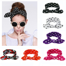 Floral Printing Cotton Bunny Stretch Ears Hair Bows Women Girls Turban Knotted Headband Hair Bands Headwear Head Wrap