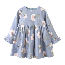 Menoea Girls Dress 2017 Autumn Cute Style Princess Dress Children Clothing Full-Sleeve pattern Design for 3-7Y Girls Dress