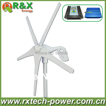 Horizontal wind turbine generator 400w rated wind generation +wind/solar hybrid controller(LCD display)+600w inverter.(China)