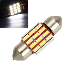 31mm Car Dome Reading Lights Lamps 3175 Licence Plate Bulbs Festoon C5W C10W Auto Accssories Canbus Error Free Car Styling(China)