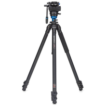 Benro A2573FS4 Alloy Aluminum S4 Video Fluid Head+ AL Flip Lock Legs Tripod Kit Professional Camera Tripods+Carry Bag(China)