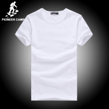 Pioneer Camp t shirt men brand clothing summer solid t-shirt male casual tshirt fashion mens short sleeve plus size 4XL(China)