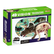 4D MASTER toy animal models assembled model number Triceratops Anatomy anatomical model free shipping