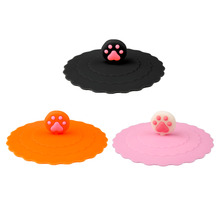 3 colors Cute Creative Magical  Silicone Leakproof Airtight Sealed  Cover For Coffee Accessory Suction Seal Lid Cap  Cover