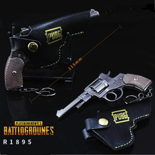 Game PUBG R1895 Revolver Gun Model Playerunknown's Battlegrounds Cosplay Costumes Props Alloy Armor Key Chain Keychain(China)