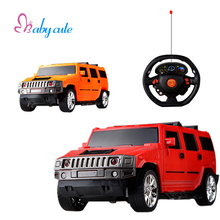 RC Car Toy Mini Hummer Electronic Cars Flashing Shock Resistant Drift Speed RC Car With Light Model 1:18 Steering Wheel Kids Toy(China)