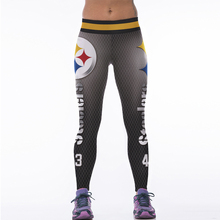2017 New Women Sport Leggings 3D Printed American Apparel Footballs Running Pants High Waist Sexy Slim Fitness Jogging Jeggings(China)