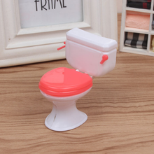 1 Pcs/set New Doll Accessories Plastic Toilet Doll Toys Bathroom Home Furniture Doll House Decoration Kitchen Toy for Children(China)