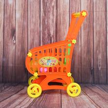 Mini Children Supermarket Plastic Shopping Cart with Simulation Fruit Toy Baby Kids Pretend Play Game Development Toy Birth Gift(China)