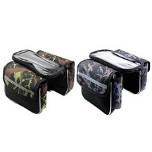 Buy Waterproof Touch Screen Bicycle Bag Cycling Mountain Bike Front Frame Bags Tube Pouch Phone Storage Bag Bicycle Accessories for $4.69 in AliExpress store