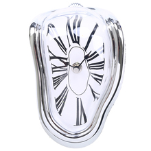 90 Degree Creative Melting Clock Desk Twisted Melting Clock Hanging Art Wall Clock Home Decoration duvar saati(China)