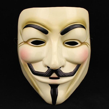 5PCS Hot Selling Party Masks V for Vendetta Mask Anonymous Guy Fawkes Fancy Dress Adult Costume Accessory Party Cosplay Masks(China)