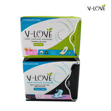 2packs/lot=38pcs VLOVE Feminine Sanitary Pads with Anion Nano Silver Far-infrared Strip(China)